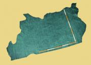 Fettleder, Pull-Up-Leder, Vintage-Leder, grün, 2,15 m², D=1,0-1,1 mm