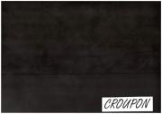 Fettleder, Pull-Up-Leder, Vintage-Leder, schwarz, 2,56 m², D=1,5 mm