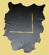 Aniline Rindlederhäute 5,82-6,52 m², schwarz-braun (coal) 1,3-1,4 mm, Polsterleder (S 237)