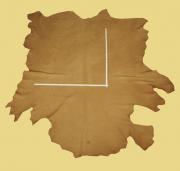 Nubuk-Rindlederhaut 4,38 m², hellbraun, 2,1-2,3 mm (BR 037)