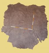 Nubuk-Leder, 4,66 m², Chai-braun, 1,3-1,4 mm (BR 331) Polsterleder