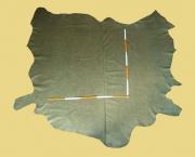 Büffelleder, 3,43-4,02 m², Olive, 1,3-1,4 mm, Polsterleder (GN 094)