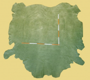 Nubuk-Leder, 4,64 m², grün, 1,4 mm (GN 093) Polsterleder