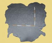 Nubuk-Leder, antik-grau, 3,57-4,29 m², 1,4-1,5 mm (GR 126) Polsterleder