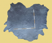 Büffelleder, 3,68 m², anthrazit-grau 1,5 mm, Polsterleder (GR 127)