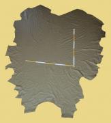 Rindlederhaut 5,37 m², beige-grau 1,0-1,1 mm, Polsterleder (GR 128)