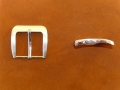 Gürtelschnalle, 40 mm, vernickelt-satiniert, Gürtelschließe